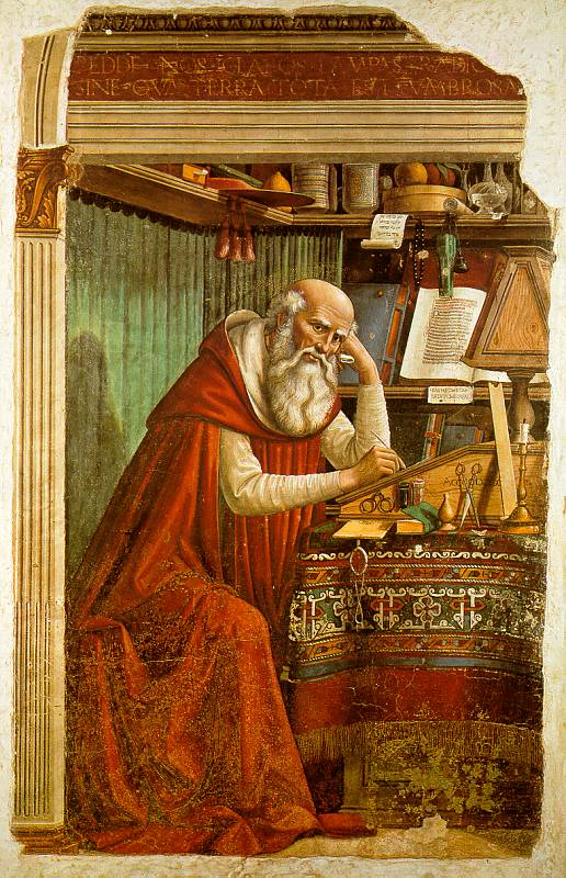 "Domenico Ghirlandaio – ""St Jerome in His Study"""